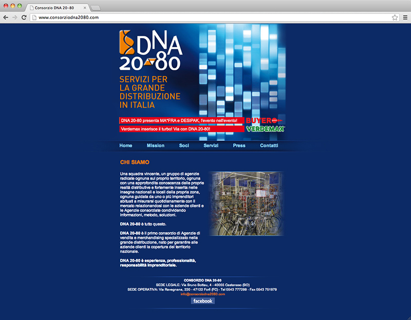 Consorzio DNA 20-80 website