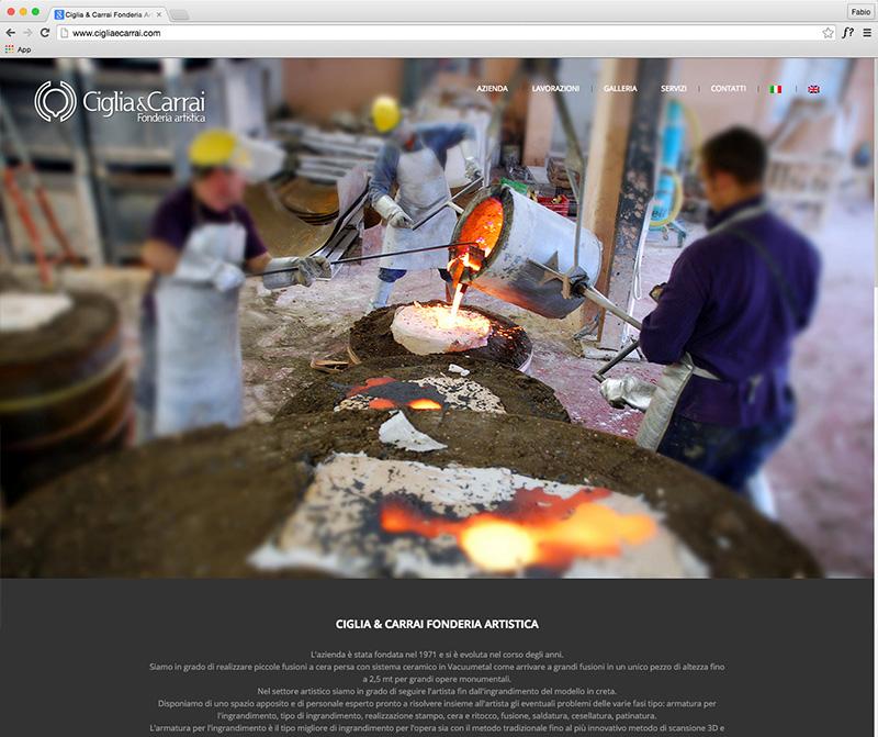 Ciglia & Carrai Fonderia Artistica website