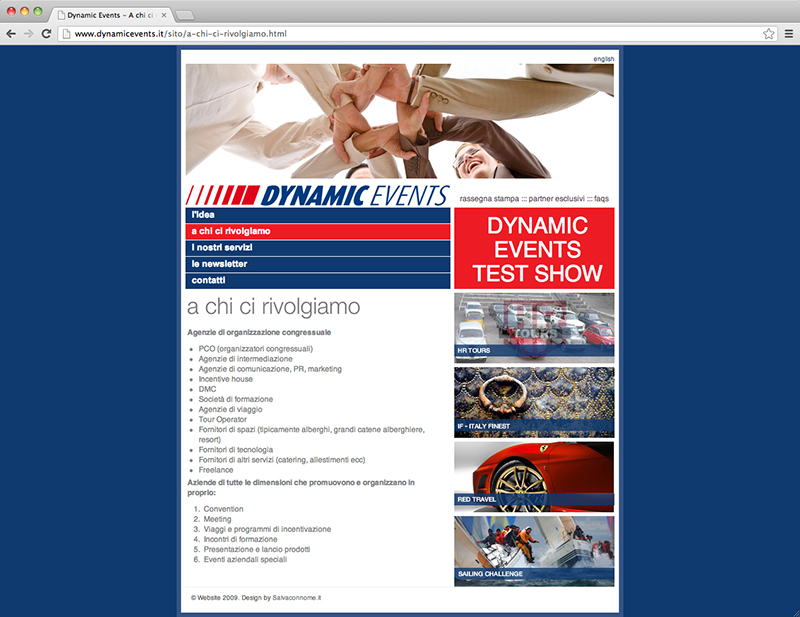 Dynamic Events website