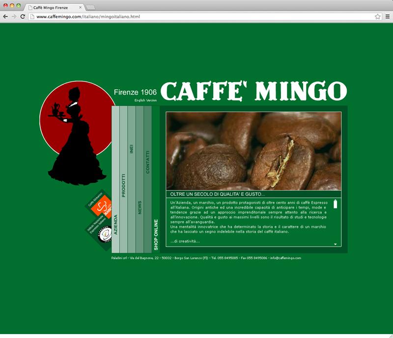 Caffè Mingo website