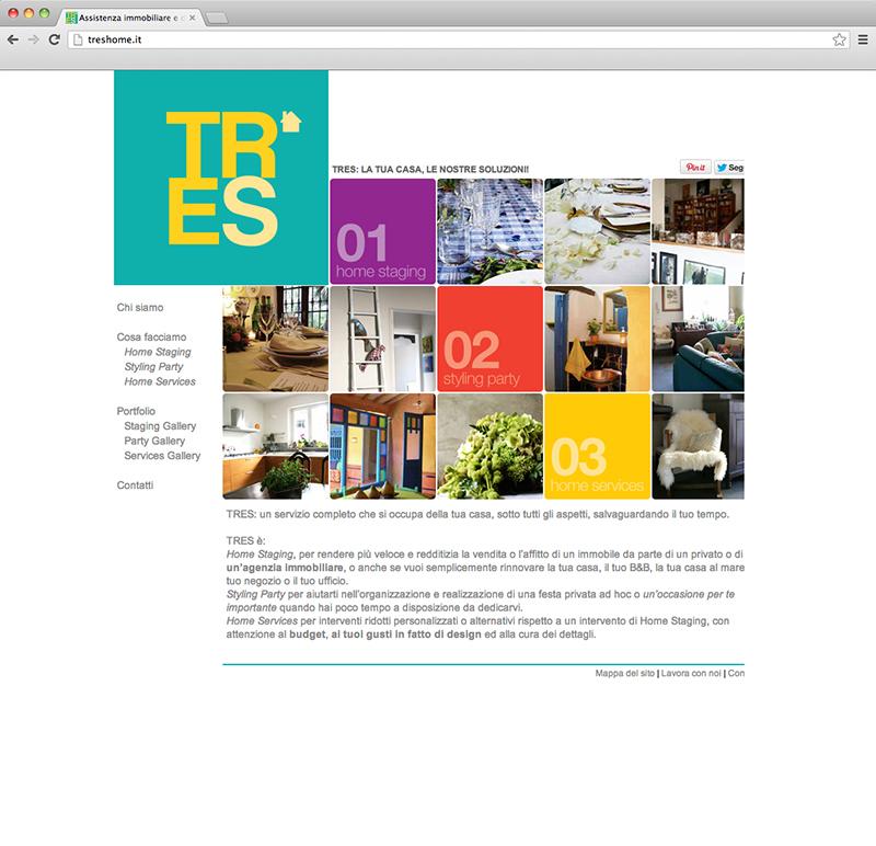 Tres Home website
